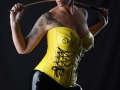 Feb/18 - Yellow leather look corset