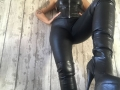 Black, thigh high, leather look , platform, stelletto, zip boots
