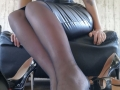 Black, nylon, sole stocking