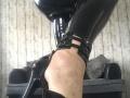 Black, PVC leggings and sky scrapper heels